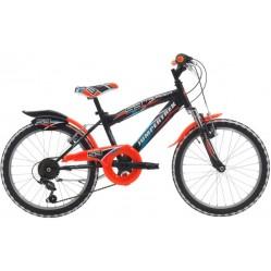 Vélo 20 pouces noir/orange