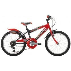 Vélo 20 pouces noir/rouge